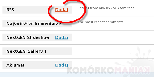 gsmManiaK w RSS WordPress