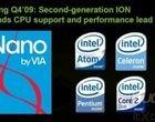Core 2 Duo Intel Atom Intel Pentium M netbook Nvidia NVIDIA Ion Nvidia Ion 2 Via Nano