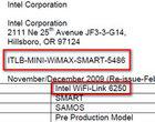 Intel Atom N450 Intel GMA 3150 Intel Pine Trail Intel WiFi-Link 6250 WiMAX