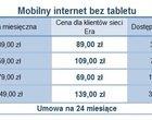 Mobilny internet z tabletem, czy bez? Oferta sieci Era
