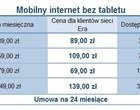 abonament Era mobilny internet Operatorzy umowa