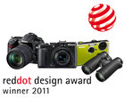Nikon z czterema czerwonymi kropkami