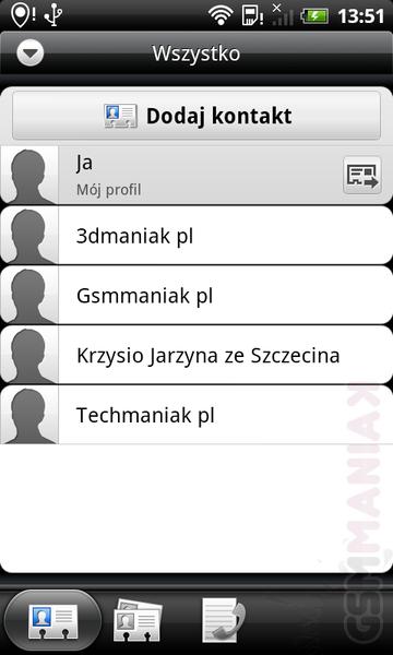 kontakty