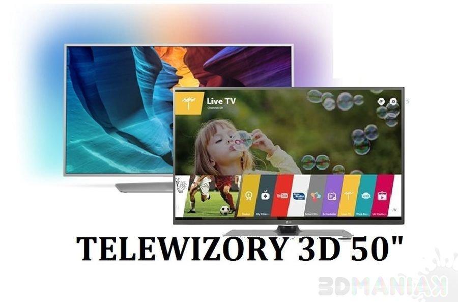 Telewizory 3D 50 cali