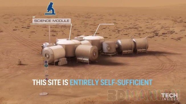 Życie na Marsie / źródło: 3dprintingindustry, Tech Insider