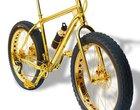 Diamenty luksusowy rower rower rower dla nowobogackich złoty rower