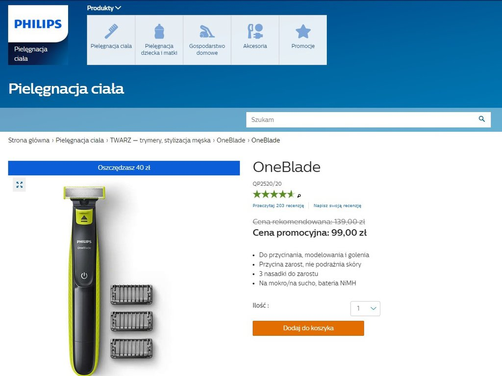 Philips OneBlade  - promocja / fot. Philips