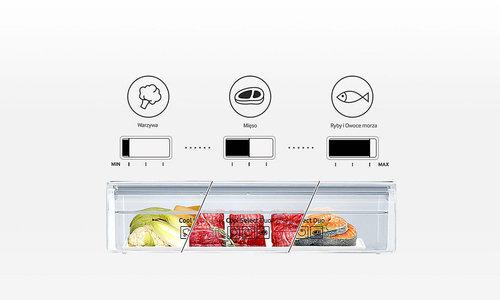 Samsung RB33N300NSA: szuflada z ustawianą temperaturą / fot. Samsung