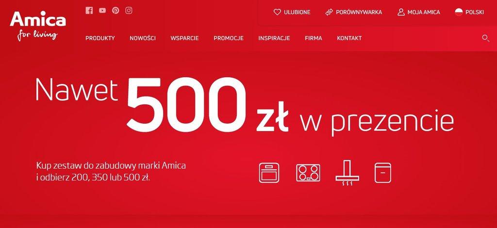 Amica: do 500 zł w prezencie / fot. Amica