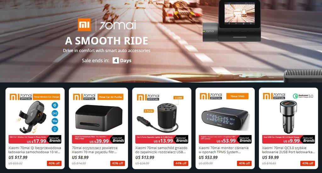 Promocja na akcesoria samochodowe Xiaomi / fot. Aliexpress