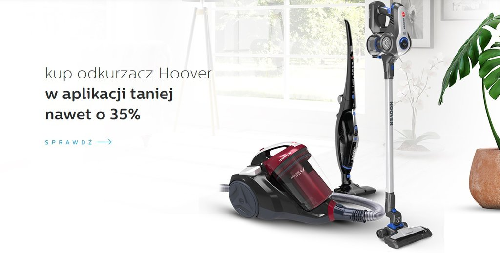 Hoover do 35% taniej w aplikacji al.to / fot. al.to
