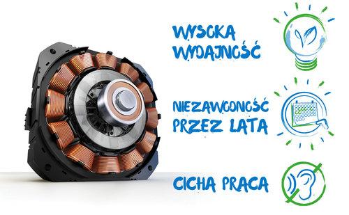 Pralka BEKO WTV8612XSW: silnik inwerterowy / fot. BEKO