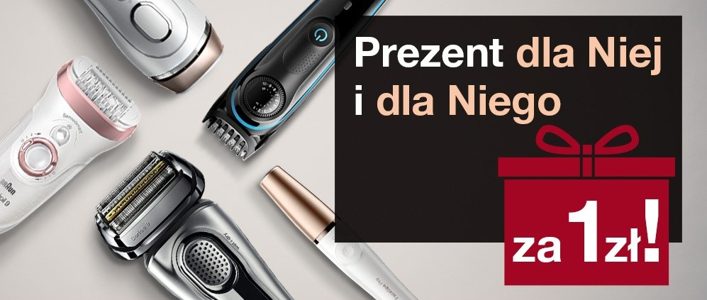 Media Expert Wybrane produkty Braun z prezentem za 1 zł dla Niej i dla Niego / fot. Media Expert