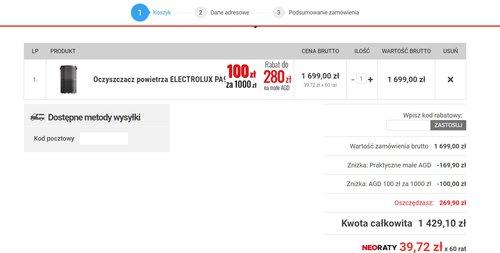 Promocja na oczyszczacz ELECTROLUX PA91-404DG w NEO24 / fot. NEO24