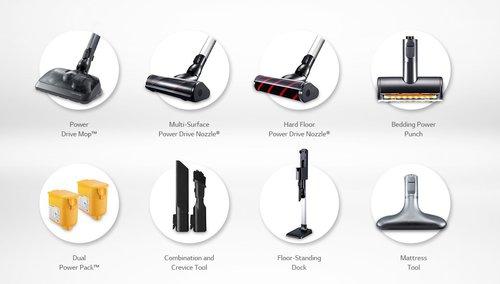 LG CordZero ThinQ A9 Stick: akcesoria / fot. LG