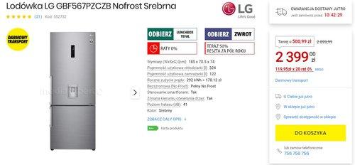LG GBF567PZCZB / fot. agdManiaK