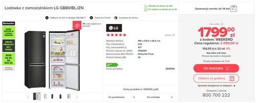 LG GBB61BLJZN / fot. agdManiaK