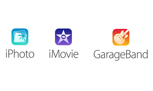 Nowe ikonki pakietu iLife. / fot. Apple