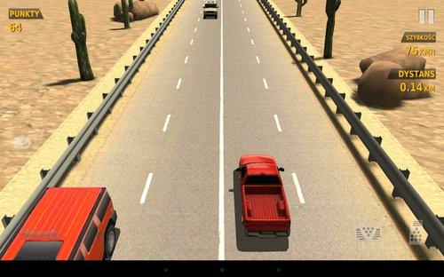 Znalezione obrazy dla zapytania traffic racer pustynia
