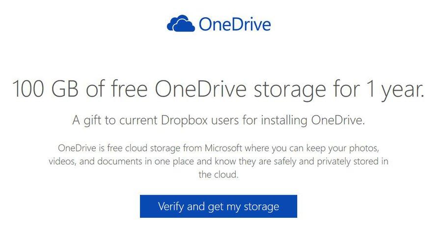 Owoc współpracy OneDrive i Dropbox / fot. Microsoft