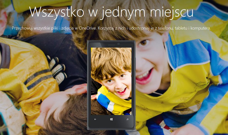 Strona powitalna OneDrive.com / fot. Microsoft