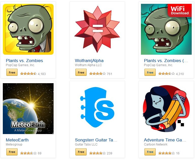 Wybrane aplikacje objęte promocją / fot. Amazon