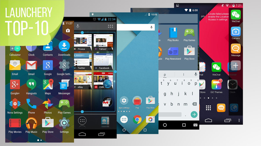 Top-10 launchery Android