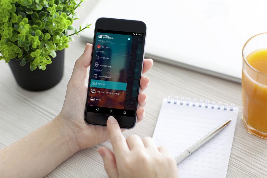 Nowa aplikacja mobilna Credit Agricole