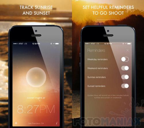 Niektóre aplikacje pomagają w wypatrzeniu złotej godziny.