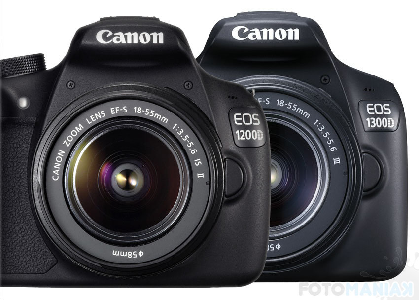 Canon 1200d vs 1300d