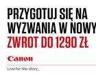 Canon zwraca gotówkę przy zakupach nawet do 1290 zł
