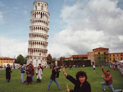 Słynne zdjęcie Michaela Parr'a, ukazujące typowych fototurystów.