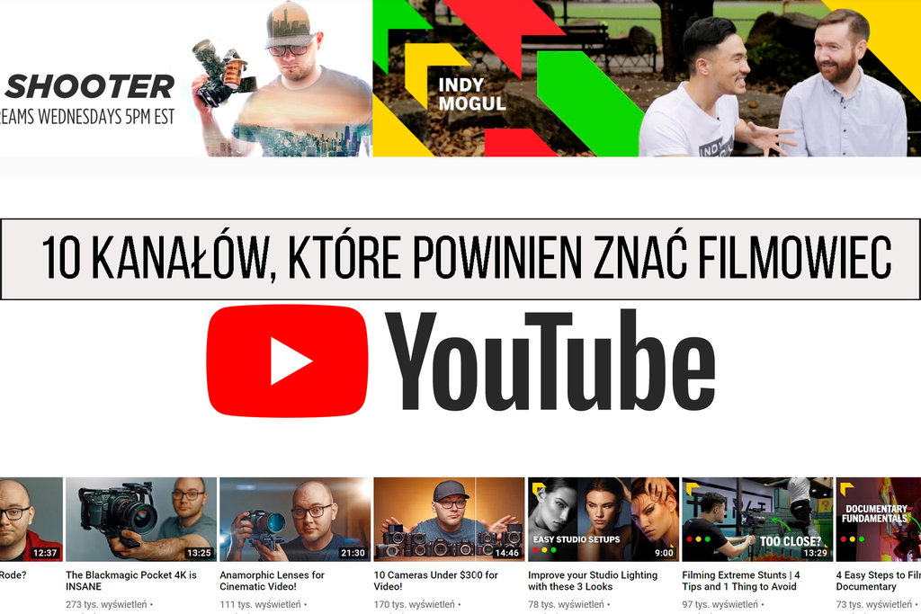 YouTube kanaly TOP wideo
