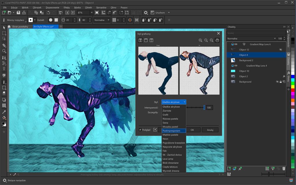 Corel PHOTO-PAINT 2020 for Windows Art Style Effects - PL