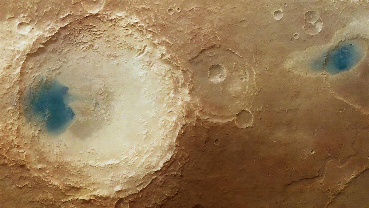 Efekt działania wiatrów na Marsie /fot. European Space Agency, Flickr.com, CC