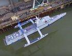 Pływający dron polujący na łodzie podwodne