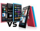 aktualizacja ClearBlack AMOLED ekran dotykowy MeeGo porównanie Windows Phone Mango