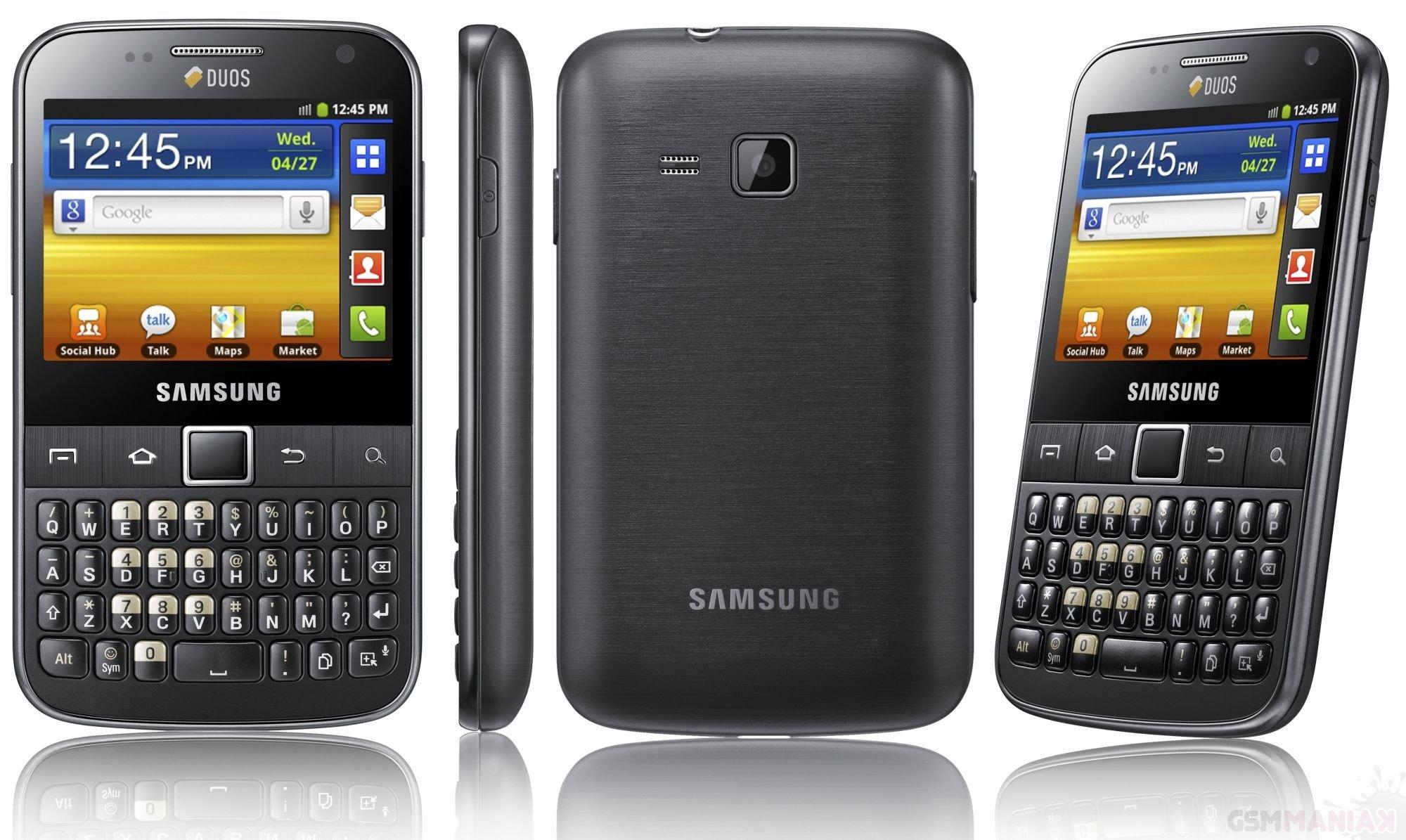 Samsung Galaxy Y Pro Duoz Android dual SIM z QWERTY trafia