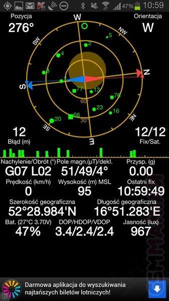 Program GPS Status - wyszukiwanie satelitów / fot: gsmManiaK.pl