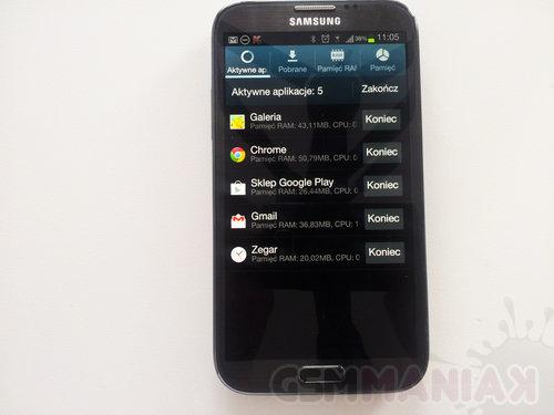 Menadżer zadań na Samsungu Galaxy Note II / fot: gsmManiaK.pl