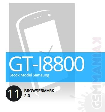 GT-I8800 BrowserMark 2 . fot. rightware