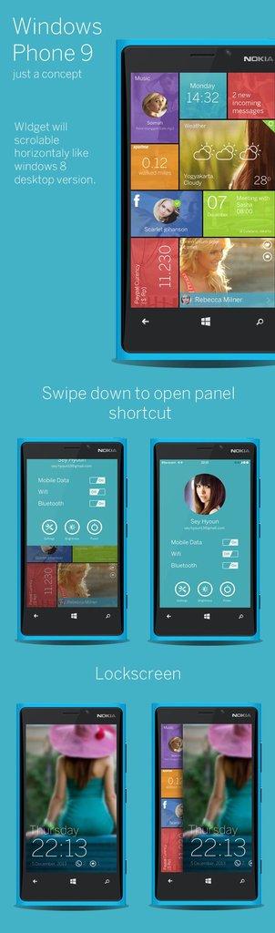 Windows Phone 9UI koncept