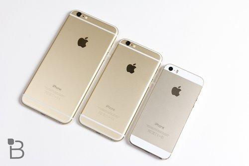 iPhone 6 i 6 Plus w zestawieniu z modelem 5S / fot. TechnoBuffalo