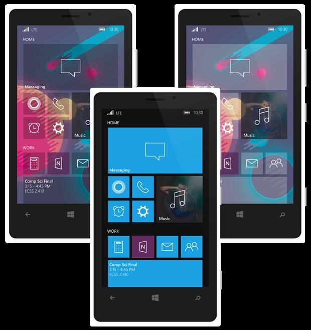 Koncept Windows Phone 10, autor James Bartlett