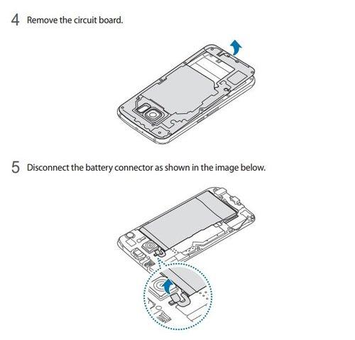 Znalezione obrazy dla zapytania Jak wymienić baterię w Samsung Galaxy S6?