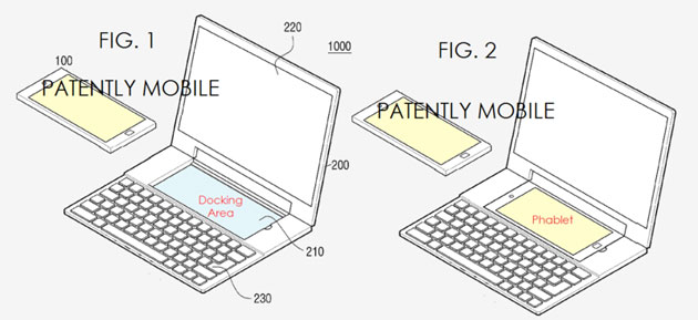 Nowy patent Samsunga / fot. Patently Mobile