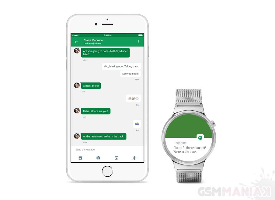 Android Wear z iOS