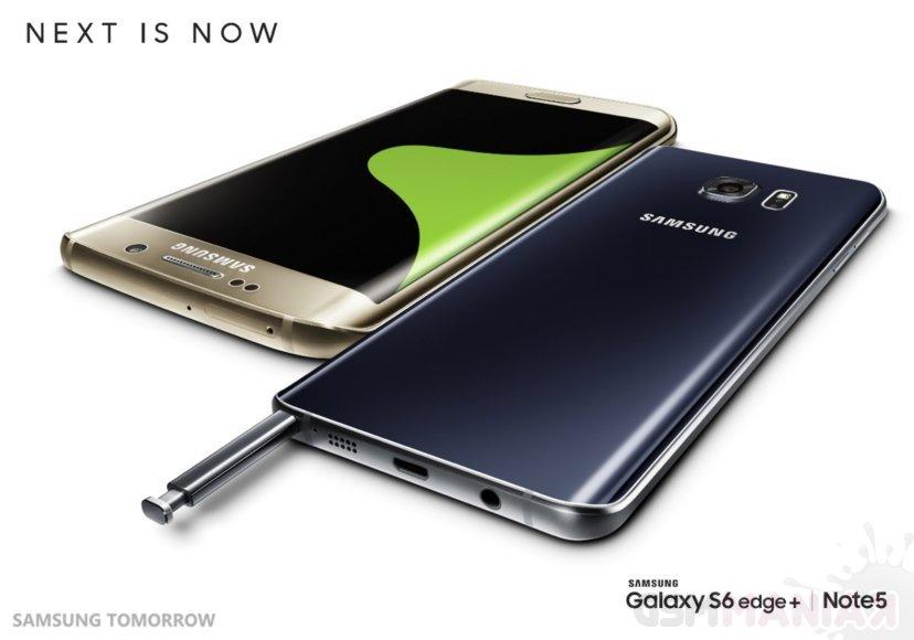 Samsung Galaxy S6 edge+ i Galaxy Note 5