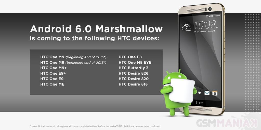 Android 6.0 dla HTC