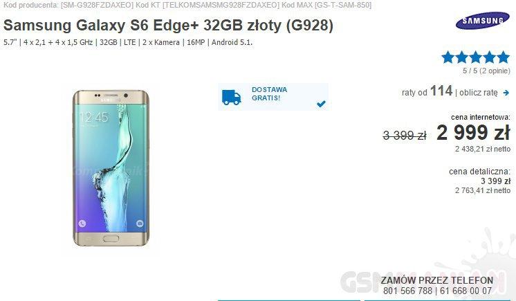 Samsung Galaxy S6 edge+ Komputronik